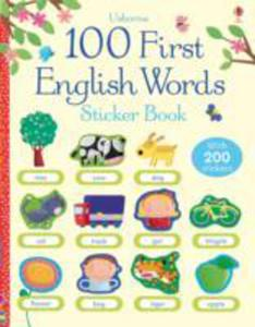 100 First English Words Sticker Book - 2842395681