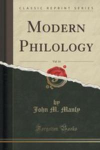 Modern Philology, Vol. 14 (Classic Reprint) - 2855126053