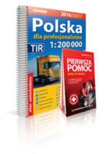 Polska Atlas Samochodowy Dla Profesjonalistów 1:200 000 + Pierwsza Pomoc 2016/2017 - 2840325980