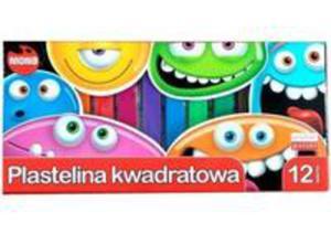 Plastelina Kwadratowa 12 Kolorów Mona - 2840302742