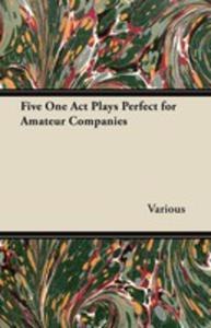 Five One Act Plays Perfect For Amateur Companies - 2855787020