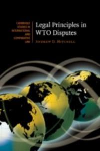 Legal Principles In Wto Disputes - 2849914666