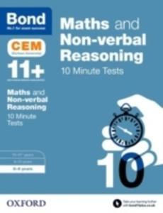 Bond 11+: Maths & Non-verbal Reasoning: Cem 10 Minute Tests - 2840414962