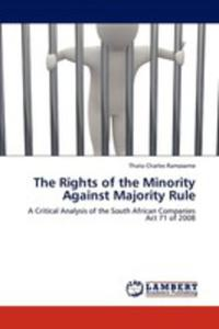 The Rights Of The Minority Against Majority Rule - 2857074088
