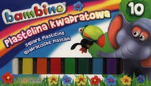 Plastelina 10 Kolorów Kwadratowa Bambino - 2846928209