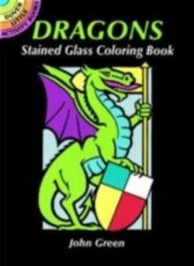 Dragons Stained Glass Coloring Book - 2839871911