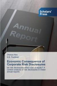 Economic Consequence Of Corporate Risk Disclosures - 2861289309