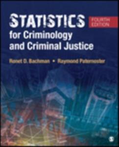 Statistics For Criminology And Criminal Justice - 2849939194