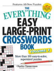 The Everything Easy Large-print Crosswords Book - 2845362005