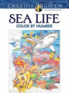 Creative Haven Sea Life Color By Number Coloring Book - 2840147089