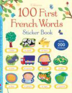 100 First French Words Sticker Book - 2848180575