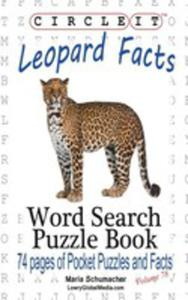 Circle It, Leopard Facts, Word Search, Puzzle Book - 2853956473