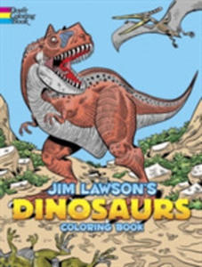Jim Lawson's Dinosaurs Coloring Book - 2848196177