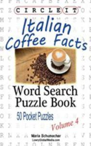 Circle It, Italian Coffee Facts, Word Search, Puzzle Book - 2852920709