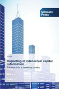 Reporting Of Intellectual Capital Information - 2860654818