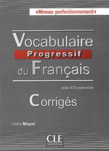 Vocabulaire Progressif Du Français Niveau Perfectionnement Klucz Odpowiedzi - 2840220842