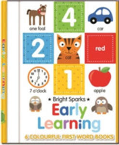 Early Learning - 6 Colourful First Word Books - 2848644908