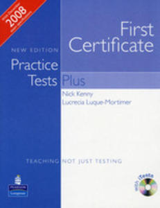 Practice Tests Plus Fce - Book (No Key) Plus Itest Cd-rom Plus Audio Cd [Książka Ucznia Bez Klucza Plus Itests Cd-rom Plus Audio Cd] - 2839265996