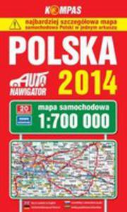 Polska 2014. Mapa Samochodowa 1:700 000 - 2845966227
