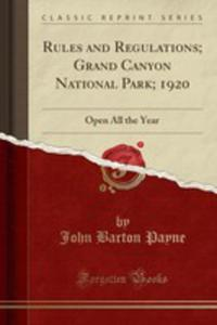 Rules And Regulations; Grand Canyon National Park; 1920 - 2855790411