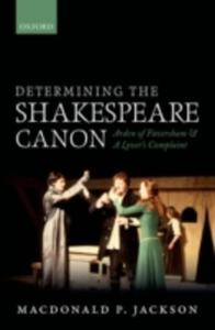 Determining The Shakespeare Canon - 2849499348