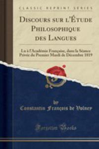 Discours Sur L'étude Philosophique Des Langues - 2854722260