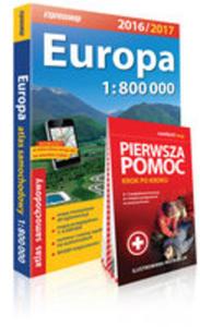 Europa Atlas Samochodowy 1:800 000 + Pierwsza Pomoc - 2856618806