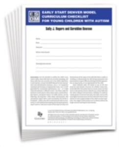 Early Start Denver Model Curriculum Checklist For Young Children With Autism - 2870433098