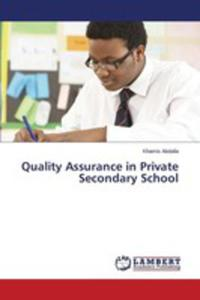 Quality Assurance In Private Secondary School - 2857255677