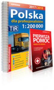 Polska Dla Profesjonalistów Atlas Samochodowy 1:200 000 + Pierwsza Pomoc 2017/2018 - 2846057688