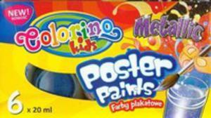Farby Plakatowe 6 Kolorów 20 Ml Metallic Colorin - 2840195923