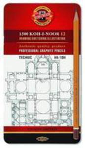 Ołówek Grafitowy 1502/i Hb-10h (12szt) - 2840163755