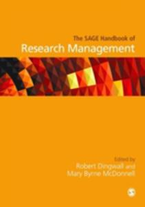 The Sage Handbook Of Research Management - 2850822921