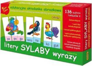 Litery Sylaby Wyrazy Edukacyjna Układanka Obrazkowa - 2842388234