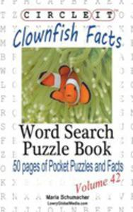 Circle It, Clownfish Facts, Word Search, Puzzle Book - 2853956474