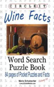 Circle It, Wine Facts, Word Search, Puzzle Book - 2853956472