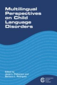 Multilingual Perspectives On Child Language Disorders - 2847661483