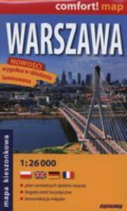 Warszawa Laminowany Plan Miasta 1:26 000 Mapa Kieszonkowa - 2846041233