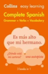 Easy Learning Complete Spanish Grammar, Verbs And Vocabulary (3 Books In 1) - 2860199836