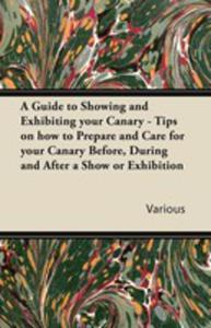 A Guide To Showing And Exhibiting Your Canary - Tips On How To Prepare And Care For Your Canary Before, During And After A Show Or Exhibition - 2855748938
