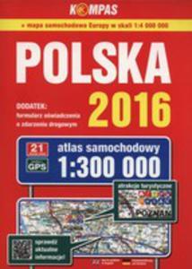 Atlas Samochodowy Polska 2016 1:300 000 - 2840329622