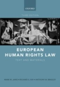 European Human Rights Law - 2839862783