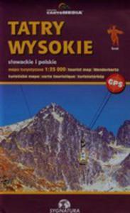 Tatry Wysokie Słowackie I Polskie Mapa Turystyczna - 2839224374