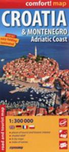 Croatia I Montenegro Adriat Coast Mapa Samochodowo-turystyczna 1:300 000 - 2840271110