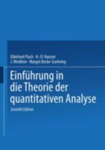 Einfuhrung In Die Theorie Der Quantitativen Analyse - 2857145885