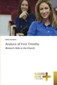 Analysis Of First Timothy - 2857255440
