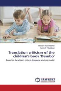 Translation Criticism Of The Children's Book 'Dumbo' - 2857258309