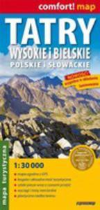 Tatry Wysokie I Bielskie Polskie I Słowackie 1:30 000 Mapa Turystyczna Laminowana - 2839223696