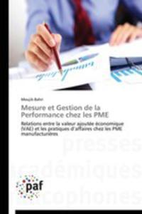 Mesure Et Gestion De La Performance Chez Les Pme - 2860399998