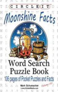 Circle It, Moonshine Facts, Word Search, Puzzle Book - 2853982511